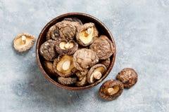 Champignons de couche de shiitake secs Photos stock