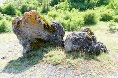 Champignons de pierre de phénomène naturel image stock