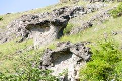 Champignons de pierre de phénomène naturel photographie stock