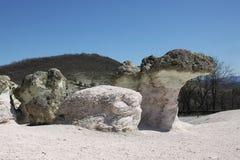 Champignons de pierre de phénomène naturel en Bulgarie photographie stock libre de droits