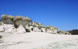 Champignons de pierre de phénomène naturel en Bulgarie photos stock