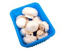 Champignons in een doos Royalty-vrije Stock Fotografie