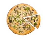 Champignons et pizza d'oignons Images libres de droits