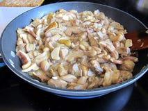 Champignons frits Photos stock