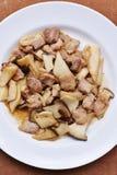 Champignons frits d'Eringi d'huître image stock
