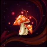 Champignons magiques rouges Photo stock