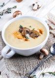 Champignons mushroom soup Stock Image