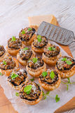 Champignons with puff pastry Stock Photography