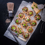 Champignons with puff pastry Royalty Free Stock Image
