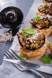 Champignons with puff pastry Royalty Free Stock Photos