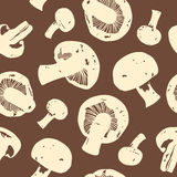 Champignons. Vector seamlesss pattern with champignons royalty free illustration