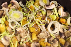 Champignons with vegetables Stock Image