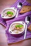 Champignonsoep met aardappel Royalty-vrije Stock Afbeeldingen