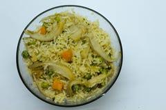 Champinjon Fried Rice Fotografering för Bildbyråer