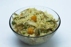 Champinjon Fried Rice Royaltyfria Foton