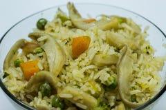 Champinjon Fried Rice Arkivbilder