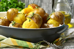 Champinjoner för stekt potatis '' Arkivfoto
