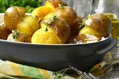 Champinjoner för stekt potatis '' Royaltyfri Foto