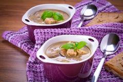 Champinjonsoppa med potatisen Royaltyfria Bilder