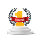 Champion, abstract background. Royalty Free Stock Image