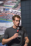 Champion Andy Murray de Grand Chelem de deux fois au  Image stock