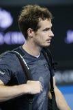 Champion Andy Murray de Grand Chelem du Royaume-Uni après son match 3 rond de l'open d'Australie 2016 Photos libres de droits