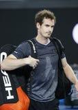 Champion Andy Murray de Grand Chelem du Royaume-Uni après son match 3 rond de l'open d'Australie 2016 Images stock