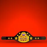 Champion Belt On Red Text Space Royalty Free Stock Images