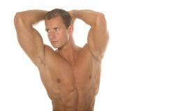 Champion body builder. Washboard abs Royalty Free Stock Photography