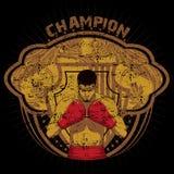 Champion. Boxer champion emblem vector format Stock Images