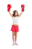 Champion boxer girl Royalty Free Stock Images