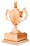 Champion bronze trophy cup. On white background 3D illustration Royalty Free Stock Photos