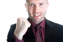 Champion business man Stock Photography