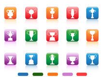Champion cup buttons icon Royalty Free Stock Photos
