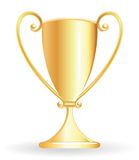 Champion cup - goblet golden Royalty Free Stock Images