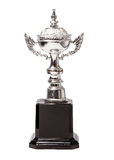 Champion cup isolated over white background Royalty Free Stock Photo