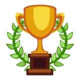 Champion cup vector icon Stock Photo