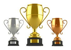 Champion cups Royalty Free Stock Photos