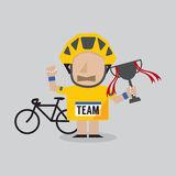 Champion Cyclist Athlete Stock Photos