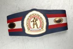 Champion de boxe de ceinture Photographie stock libre de droits