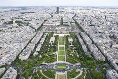 Champion-De-Mars Ansicht vom Eifell Kontrollturm Lizenzfreie Stockbilder