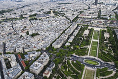 Champion-De-Mars Ansicht vom Eifell Kontrollturm Stockfotografie