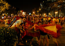 Champion du football du monde de l'Espagne Images stock