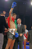 Champion du monde à kickboxing Image stock