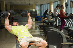 Champion with dumbbells. Stock Photography