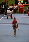 Champion E. Isinbayeva after pole vault Stock Image