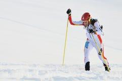Champion espagnol Kilian Jornet i Burgada de ski Images stock