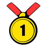 Champion gold medal icon, icon cartoon Royalty Free Stock Photography