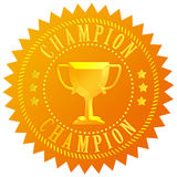 Champion gold seal Royalty Free Stock Photos