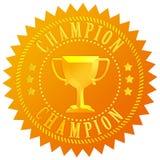 Champion gold seal royalty free illustration